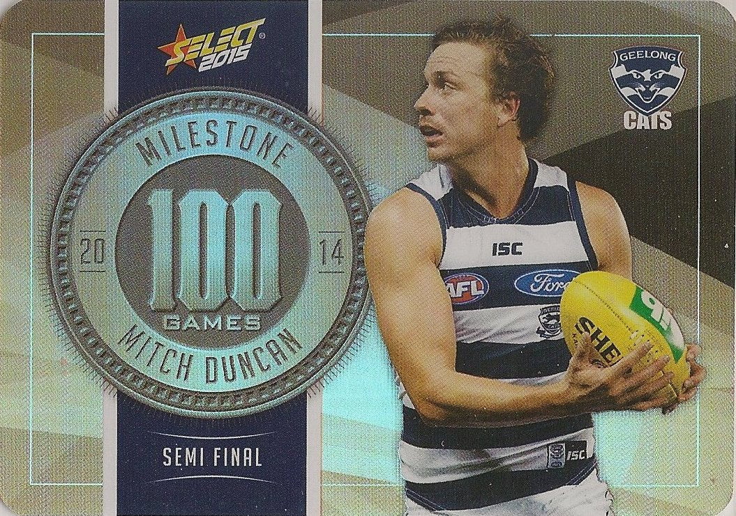 Mitch Duncan, 100 Games Milestone, 2015 Select AFL Champions