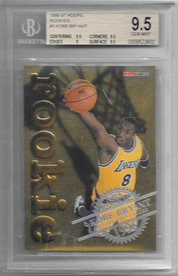 Kobe Bryant, Rookie, 1996-97 Hoops NBA, BGS 9.5