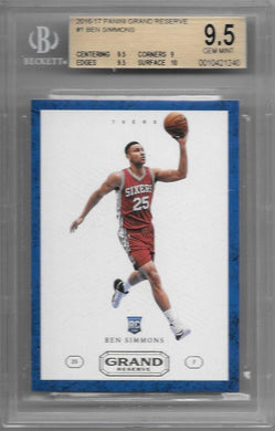 Ben Simmons, RC, 2016-17 Panini Grand Reserve Basketball BGS 9.5