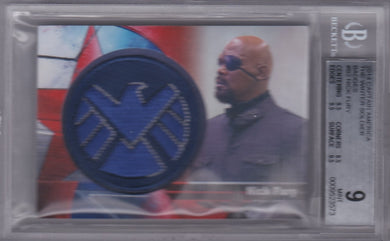 Nick Fury, Badges, 2014 Captain America The Winter Soldier BGS 9.