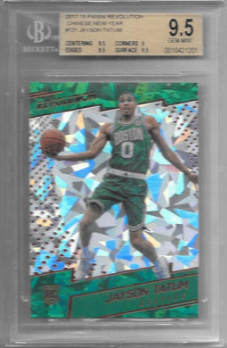 Jayson Tatum, RC, Chinese New Year, 2017-18 Panini Revolution, BGS 9.5