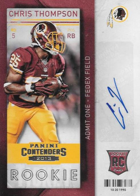 Chris Thompson, Rookie Ticket Autograph, 2013 Panini Contenders NFL