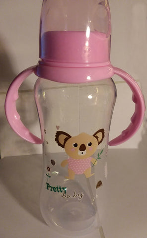 "Bear ""Pretty Baby' Bottle with removable handles and silicone teat BB473"
