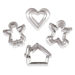 Pack of 12 Family Shapes Eid Baking Cookie Cutters