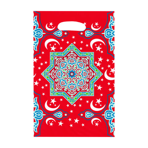 Pack of 10 Red Star Pattern Eid & Ramadan Party Bags