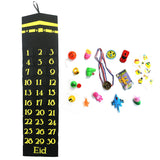 Black Kaaba Felt Ramadan Advent Calendar with Pockets