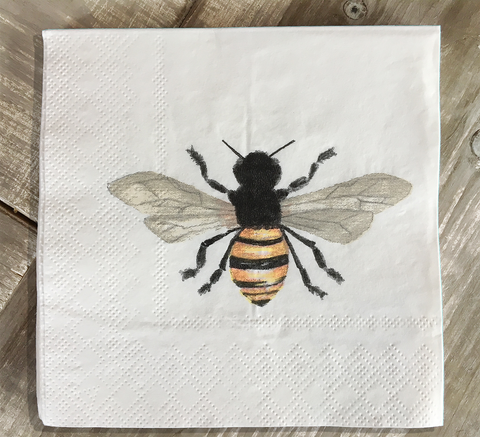 Bee cocktail napkins