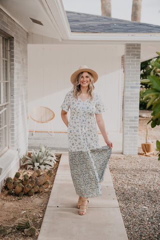 The Dottie Polka Dot Dress in Dandelion (Sizes S-3X)