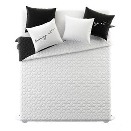 Copriletto 200x220cm LIVING White & BlacK