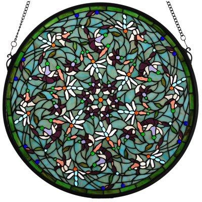 Dragonfly Medallion Window (Green)- Free Shipping