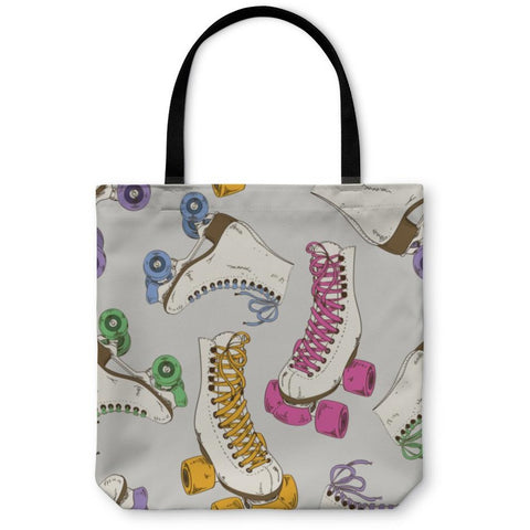 Pattern With Roller Skates Tote Bag- Free Shipping