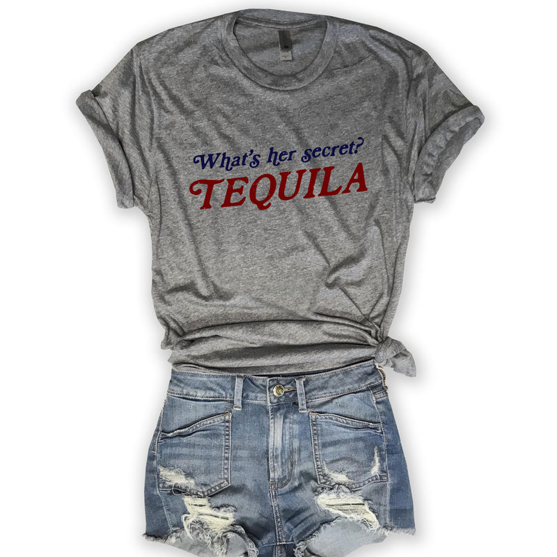 SALE! What's Her Secret TEQUILA...Heather Grey Unisex Tee