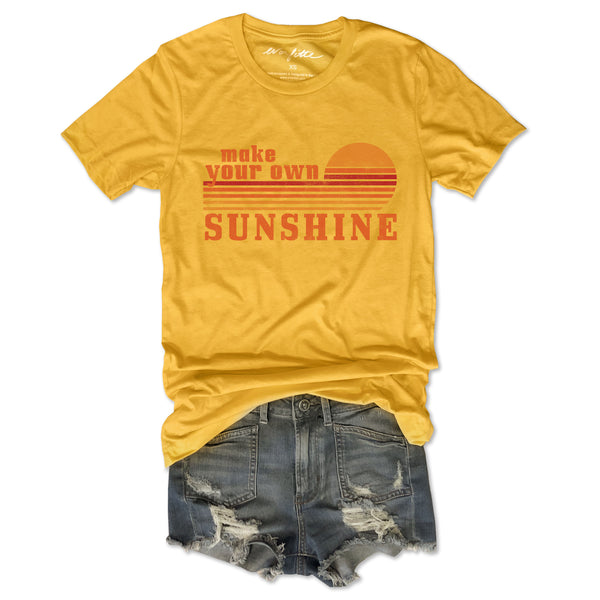 Make Your Own Sunshine ... Retro Unisex Yellow Triblend Tee