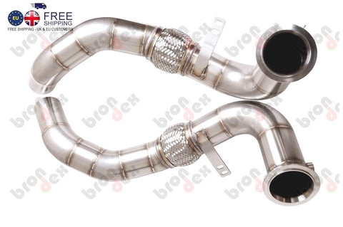 bmw 750i catless downpipes brondex exhaust