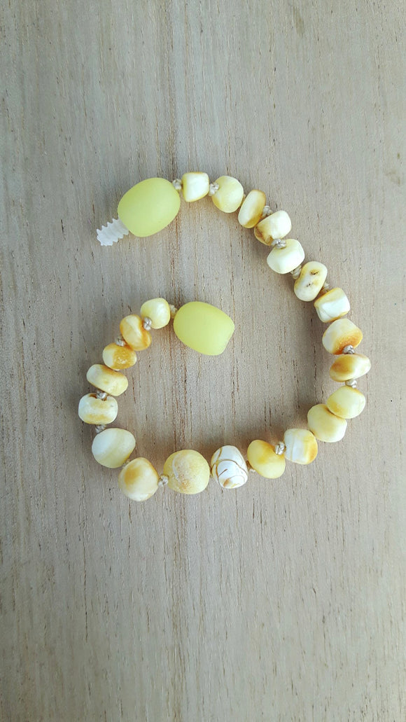 Raw Milky Amber Anklet