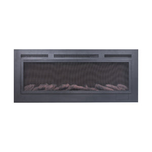 "TOUCHSTONE SIDELINE 50"" Steel Matte Black Wallmount Fireplace"