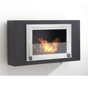 "ECO-FEU BROOKLYN 34"" Decorative Wall Mounted UL Listed Bio-Ethanol Fireplace - NEW - Fireplace Features"