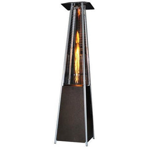 Square Design Patio Heater with Variable Flame-Golden Hammered SUNHEAT PHSQGH - Fireplace Features