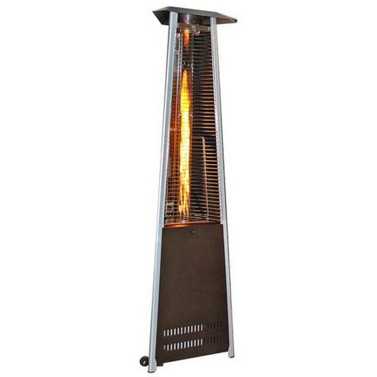 Triangle Design Patio Heater -Golden Hammered SUNHEAT PHTRGH - Fireplace Features
