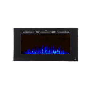 "TOUCHSTONE SIDELINE 40"" Black Wallmount Fireplace"
