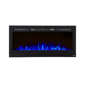 "TOUCHSTONE SIDELINE 45"" Black Wallmount Fireplace"