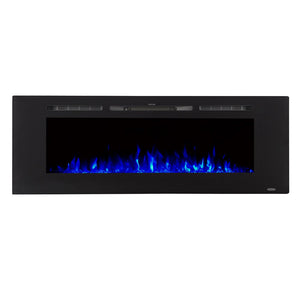 "TOUCHSTONE SIDELINE 60"" Black Wallmount Fireplace"