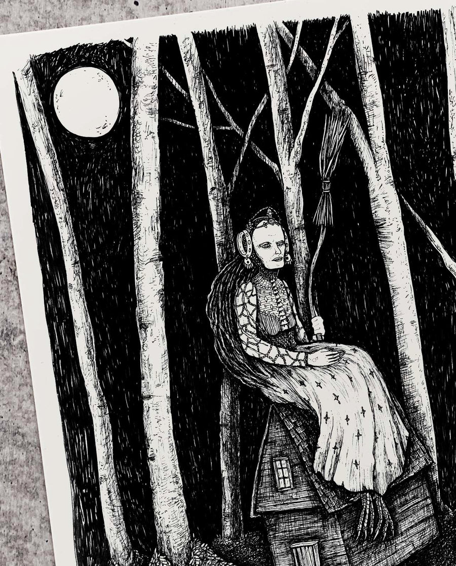Baba Yaga in the Birch Forest