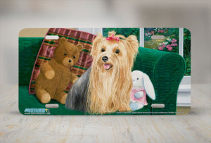 "Airstrike® 5345-""Center of Attention"" Yorkshire Terrier Dog License Plate"
