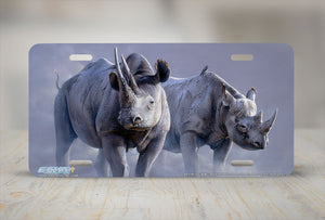 "Airstrike® 8244-""Black Rhinos""- Rhino License Plate"