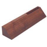 Genuine Walnut Desk Wedge with Business Card Holder- 10""