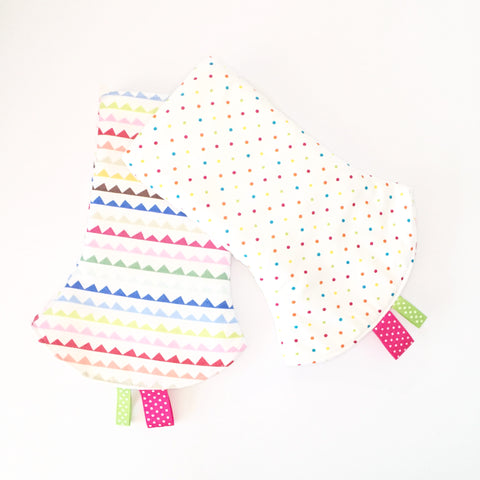 Colorful Buntings Corner Drool Pads - Quirki Babies