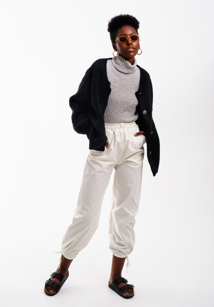 Drawstring Pants, Off-white - AVAVAV-Drawstring Pants, Off-white