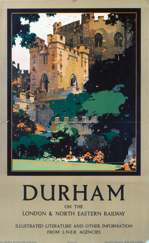 "Durham on the LNER 24"" x 32"" Matte Mounted Print"