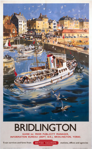 "Robin Hood's Bay Yorkshire by LNER 24"" x 32"" Matte Mounted Print"