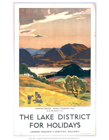 "Lake district 24"" x 32"" Matte Mounted Print"
