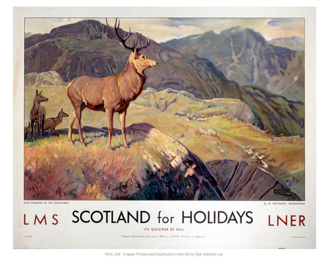 "Scotland for holidays 24"" x 32"" Matte Mounted Print"