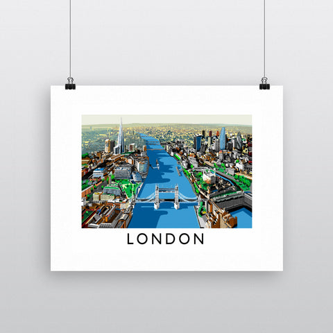The River Thames, London 11x14 Print