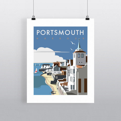 "THOMPSON003: Portsmouth Harbour. 24"" x 32"" Matte Mounted Print"