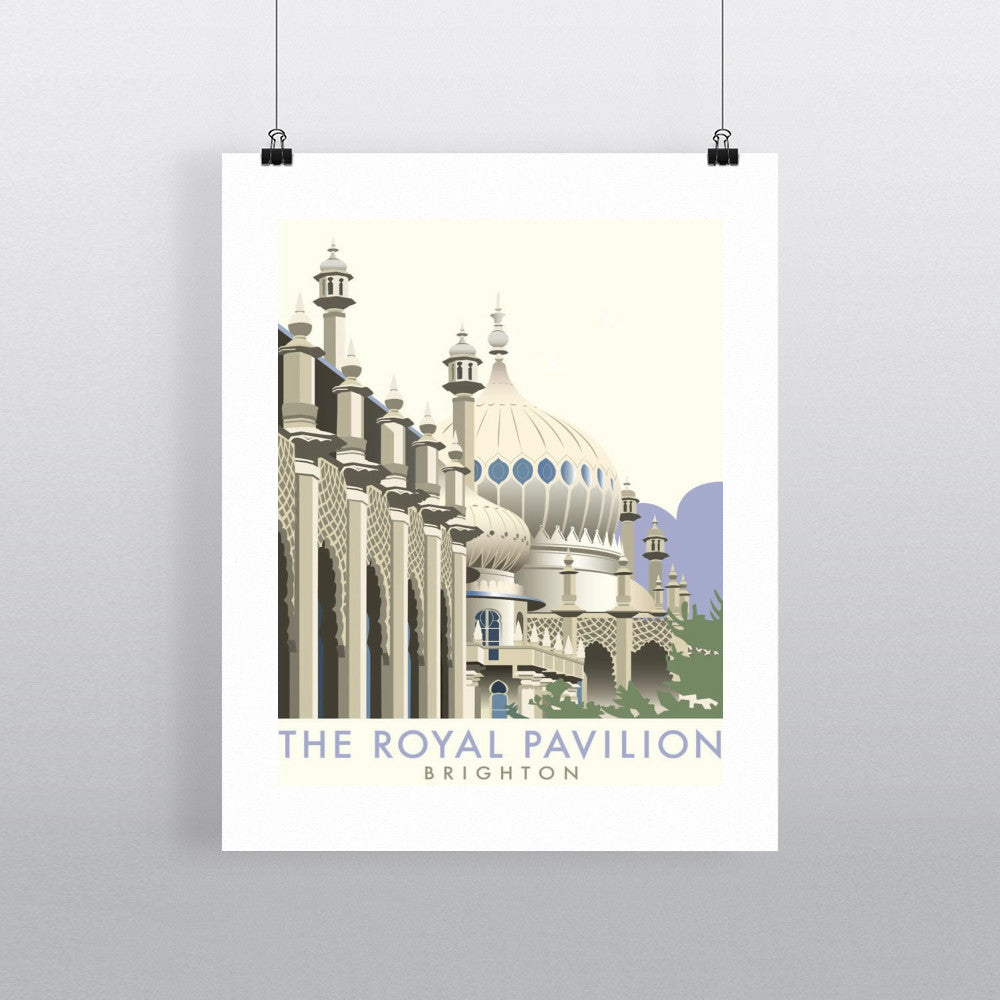 "THOMPSON022: Brighton Pavilion. 24"" x 32"" Matte Mounted Print"