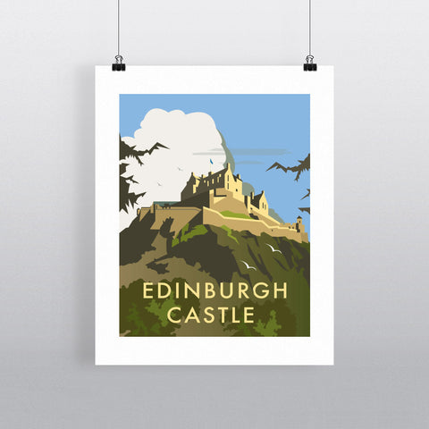 "THOMPSON039: Edinburgh Castle. 24"" x 32"" Matte Mounted Print"