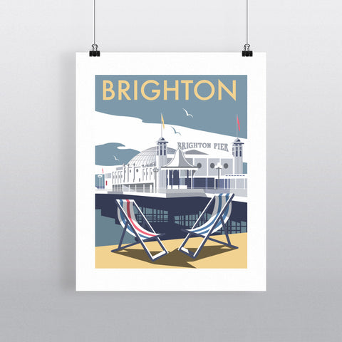 "THOMPSON162: Brighton Pier 24"" x 32"" Matte Mounted Print"