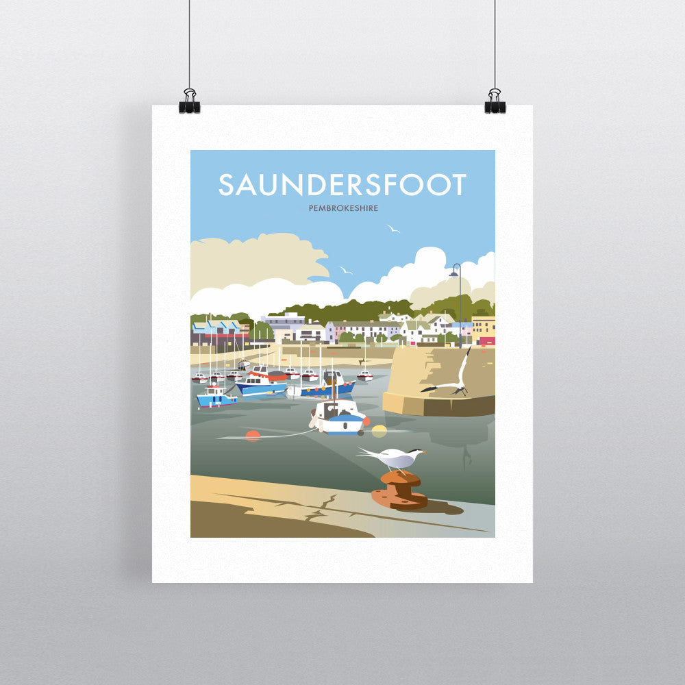"THOMPSON204: Saundersfoot, South Wales 24"" x 32"" Matte Mounted Print"