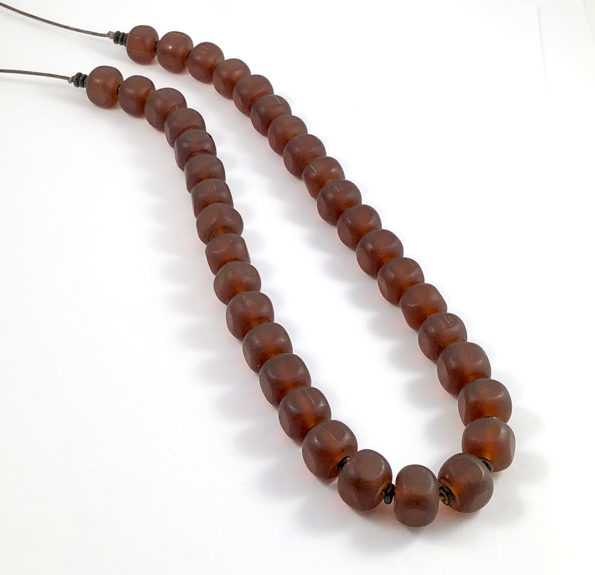 Resin Necklace - Brown Block