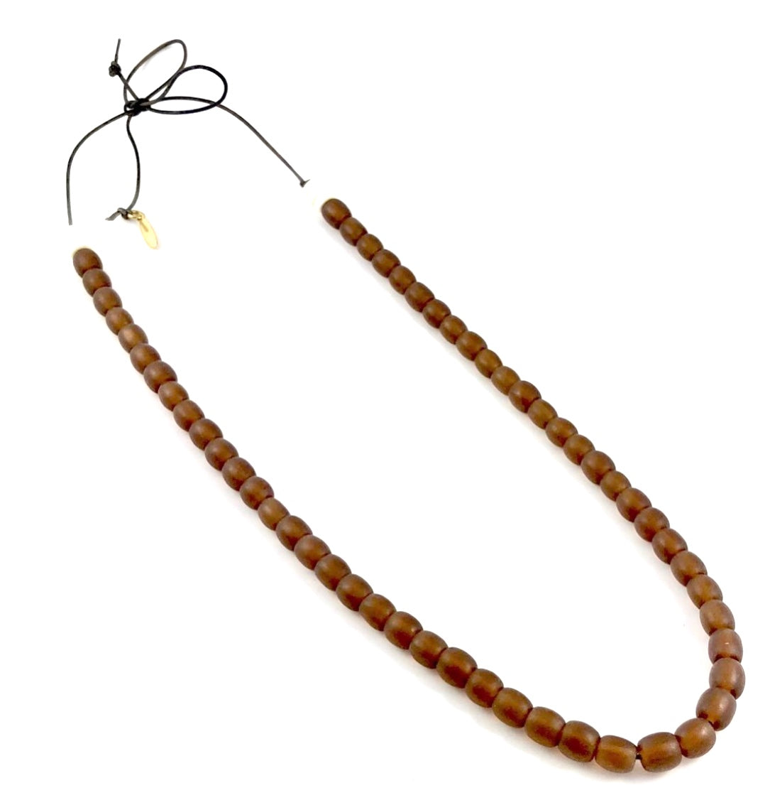 Resin Necklace - Brown Tube