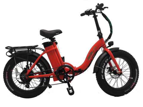 Green Bike USA GB750 Fat Tire Step Thru-Folding Electric Bike