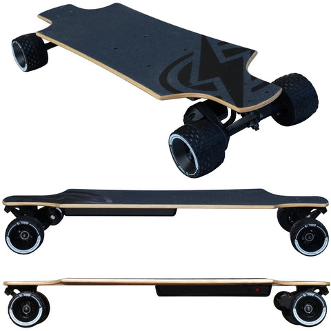 Atom Long Boards B10X All-Terrain Electric Skateboard - 3 Side Views