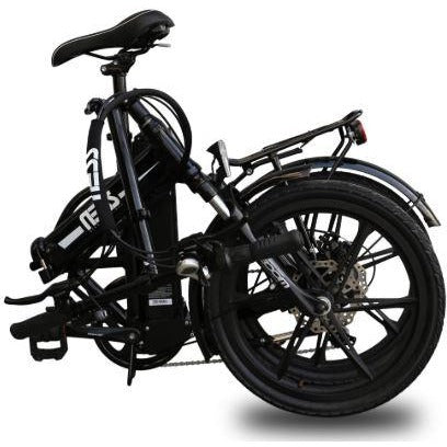 Black Ness Rua Folding Electric Bike - Folded