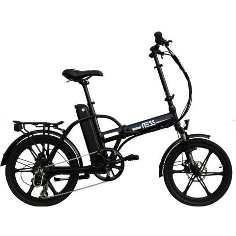 Black Ness Rua Folding Electric Bike - Side View