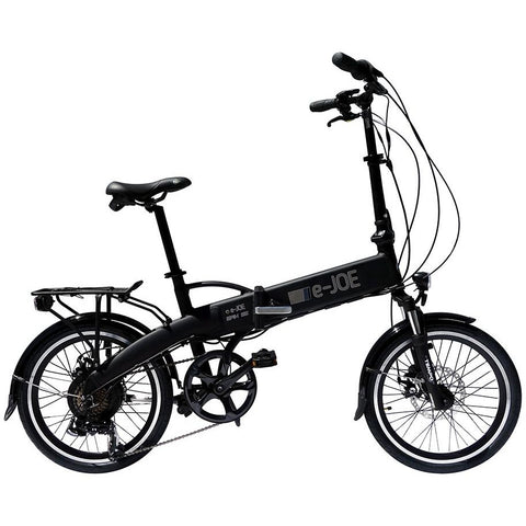 Black e-Joe EPIK SE - Folding Electric Bike - Side View