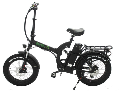 Green Bike USA GB750 Fat Tire - Folding Electric Bike